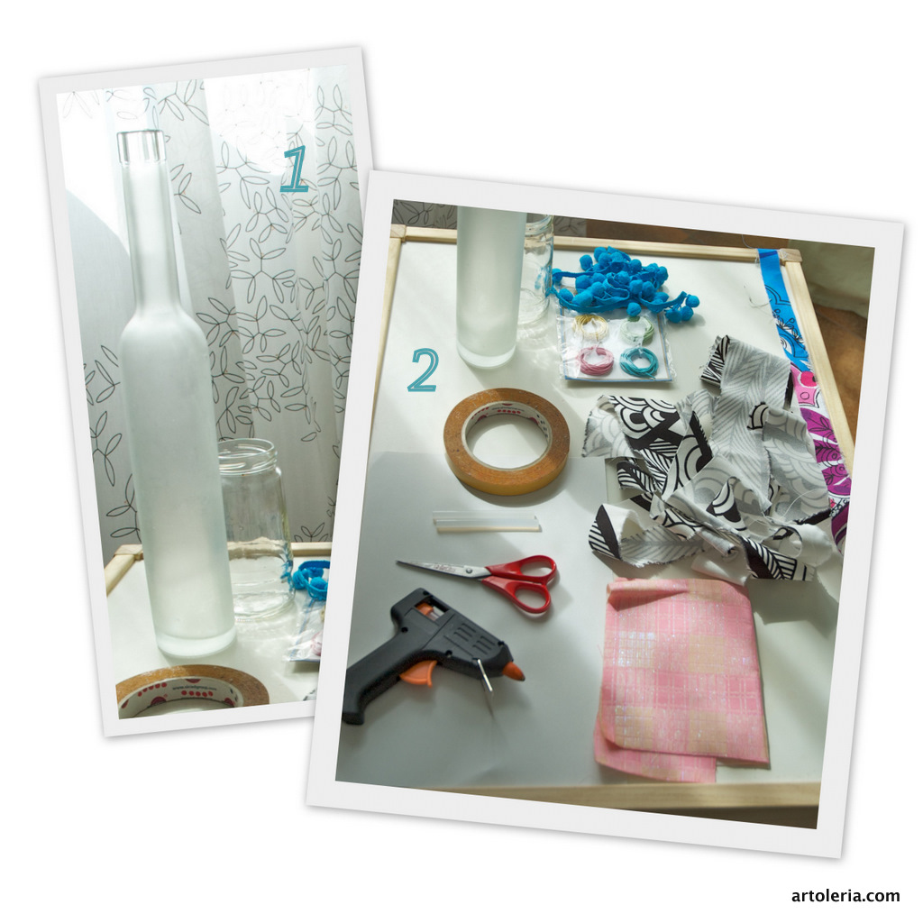 tutorial glass bottle decor