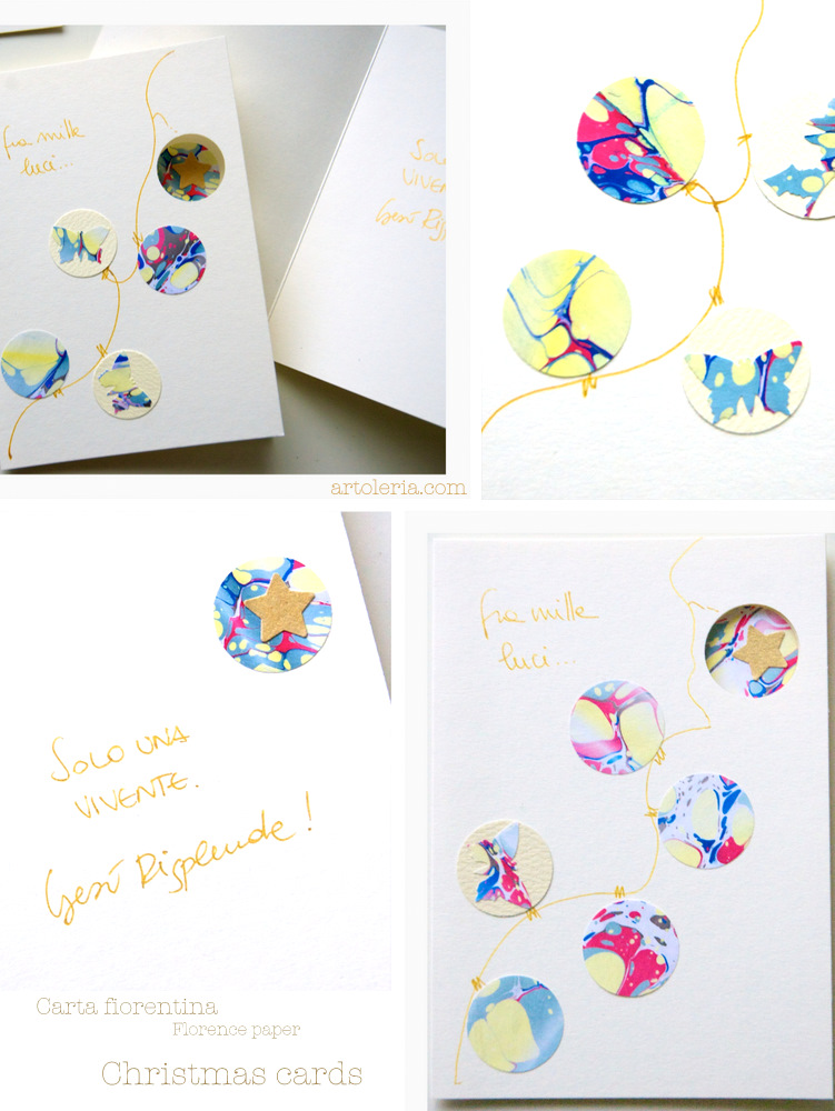 christmas cards made of florentine paper