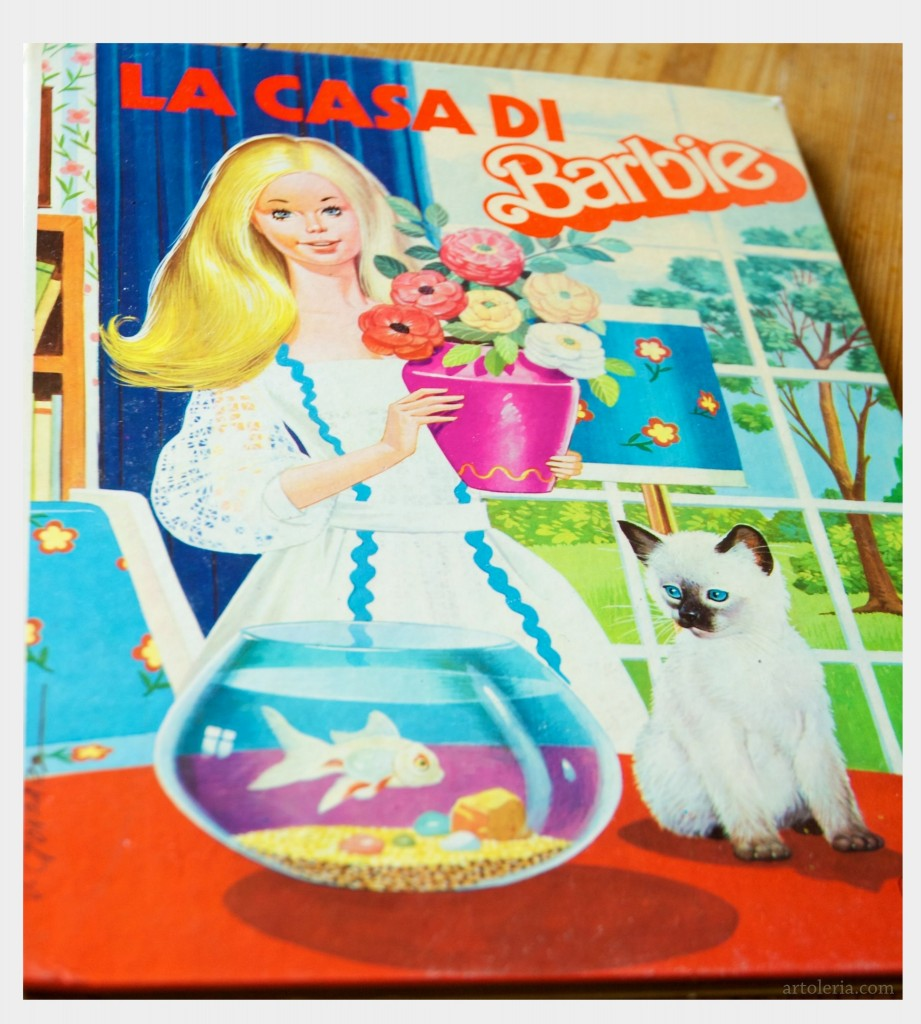 libro illustrato anni 70 La casa di Barbie